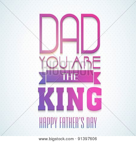 Beautiful greeting card design with shiny text Dad You art the Best on sky blue background for Happy Father's Day celebration.