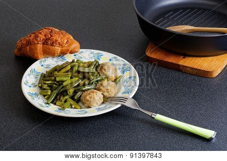 Stewed Noisettes With French Bean