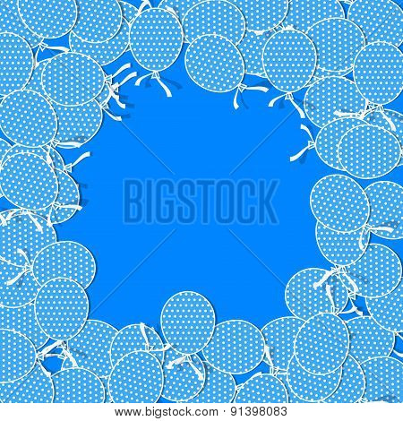 Simple Paper Balloons with White Dots and Bows.