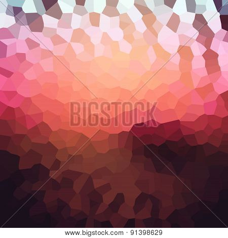 Colorful Mosaic Banner For Your Design. Geometric Retro Background. Honeycomb With Gradient Backgrou