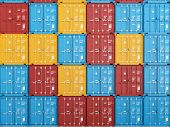 image of smuggling  - many colorful stacked Containers  - JPG