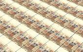 picture of brazilian money  - Brazilian reais bills stacks background - JPG