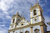 stock photo of slave  - Church of Our Lady of the Rosary of the Blacks built by slaves in the Pelourinho in Salvador - JPG