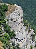 stock photo of crimea  - This rock looks like as a human face - JPG