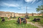 picture of cannon  - Ancient Weapon cannon in Akkerman fortress at Belgorod - JPG