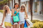 foto of overspending  - Three young girls - JPG