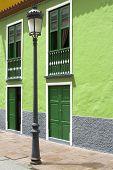 pic of lamp post  - Lamp post in a town on La Gomera island - JPG