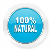 stock photo of 100 percent  - natural icon 100 percent natural sign