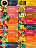 foto of universal sign  - Collection of flat web infographic concepts and banners - JPG