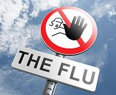 stock photo of immune  - flu shot stop the virus vaccine for immunization prevention by vaccination - JPG