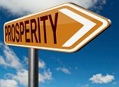 stock photo of prosperity  - prosperity good fortune and luck live a happy successful life - JPG