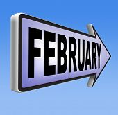 foto of february  - February cold next winter month schedule and calender - JPG