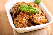 pic of lamb chops  - Lamb chops with onion stewed in gravy - JPG