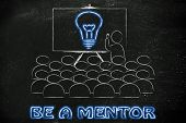 pic of mentoring  - conference presentation or school class with mentor depicting a brilliant idea - JPG