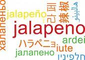 picture of jalapeno  - Background concept wordcloud multilanguage international many language illustration of jalapeno - JPG