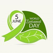 stock photo of environment-friendly  - illustration of a leaf for World Environment Day - JPG