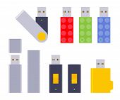 picture of usb flash drive  - Set of the USB flash - JPG