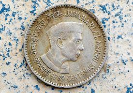foto of prime-minister  - vintage coin depicting India - JPG