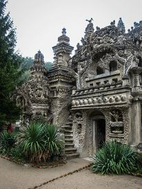 foto of cheval  - Image of ideal Palace of Postman Cheval France - JPG