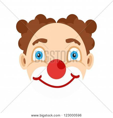 Clown, face, funny icon vector image. Can also be used for outdoor fun. Suitable for use on web apps, mobile apps and print media
