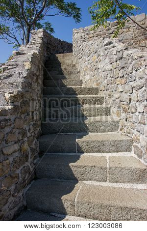 Stone Stairway In The Old Town Budva.