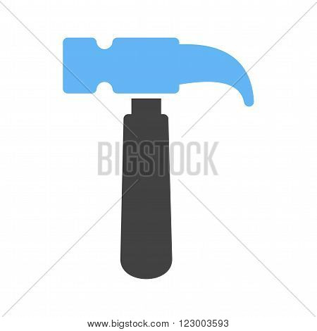 Hammer, tool, hardware icon vector image. Can also be used for tools. Suitable for use on web apps, mobile apps and print media.
