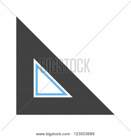 Ruler, measure, length  icon vector image. Can also be used for tools. Suitable for use on web apps, mobile apps and print media