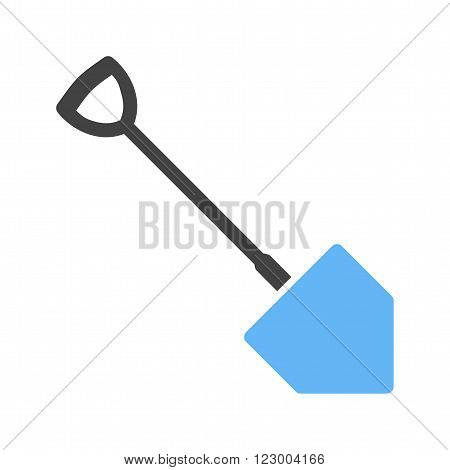 Spade, garden, dig icon vector image. Can also be used for tools. Suitable for use on web apps, mobile apps and print media.
