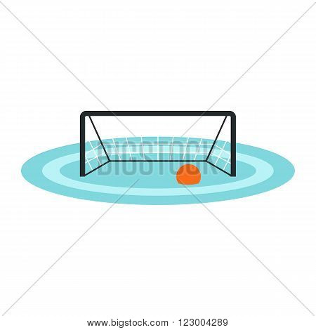 Water polo gates icon in flat style isolated on white background