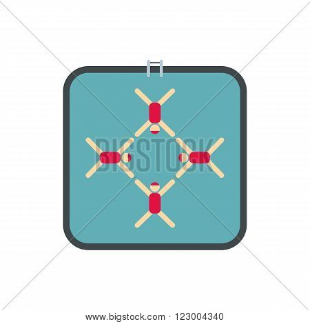 Synchronized swimmers icon in flat style isolated on white background