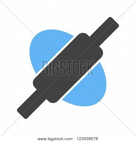 Dough, rolling, pin icon vector image. Can also be used for bakery. Suitable for use on web apps, mobile apps and print media