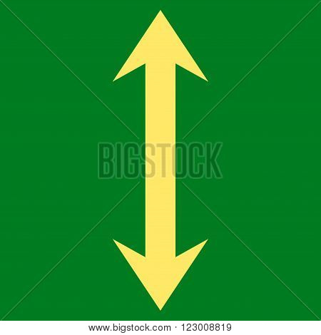 Vertical Flip vector pictogram. Image style is flat vertical flip pictogram symbol drawn with yellow color on a green background.