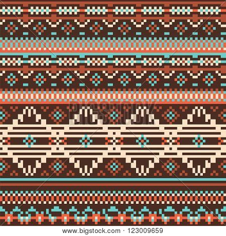 Aztec geometry print. Ethnic  boho tribal native seamless pattern. Ethnic ornamental print background for card, invitation, wallpaper, web design, fabric, textile, clothes
