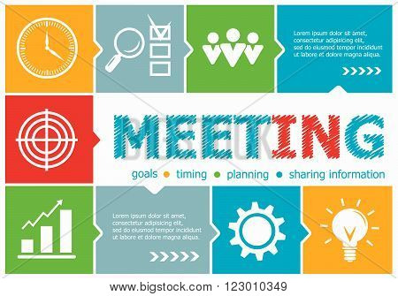 Business Meeting Design Illustration Concepts For Business, Consulting, Management, Career.