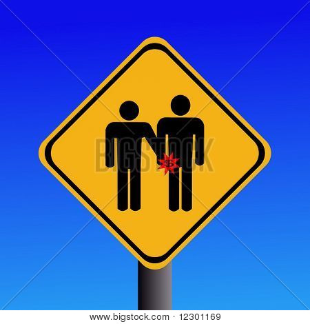 warning pickpockets sign on blue illustration