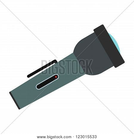 Flashlight icon in flat style isolated on white background