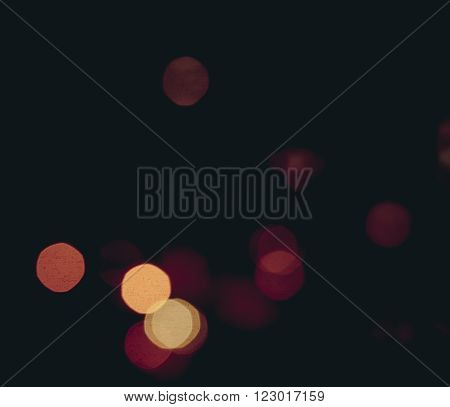 Abstract beautiful blurred defocused bokeh background of the city lights