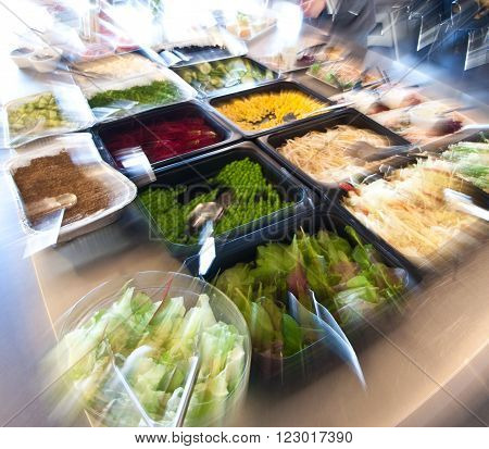 Food In A Self Service Restaurant