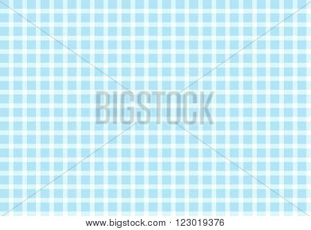 Checkered Tablecloth pattern light blue and white