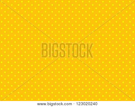 Seamless Background orange with small yellow dots