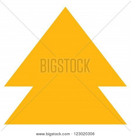 Move Up vector pictogram. Image style is flat move up iconic symbol drawn with yellow color on a white background.