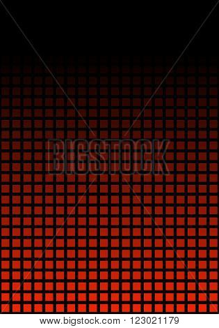 Black and red pixel background with transition