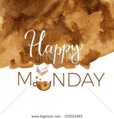 Happy Monday Typography Motivation Card