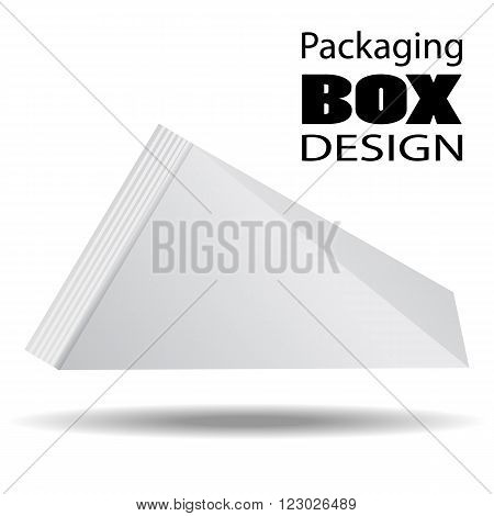 Packaging Box Design. Pack shot carton package of juice milk or liquids. Vector Illustration EPS 10