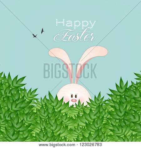illustration of Funny bunny for Happy Easter