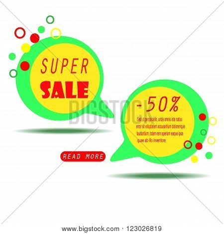 Colorful Sale Banner with text. Super Sale. Sale template. Big sale. Sale tag. Sale poster. Sale vector. Super Sale and special offer. Doodles frame.