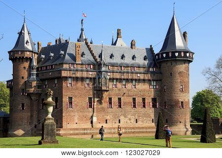 Haarzuilens, Netherlands - May 6: This is the Castle de Haar in Netherlands near city Utrecht May 6, 2013 in Haarzuilens, Netherlands.