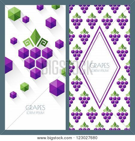 Vector Seamless Pattern And Abstract Background With Grapes.