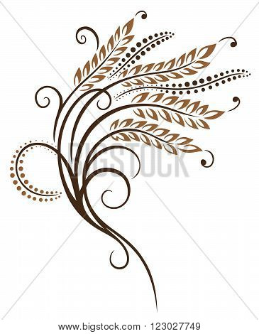 Vector design with cereal Ear of corn. Decoration for bakers