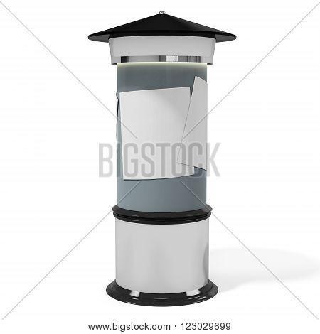 3D Outdoor Advertise Pole, Column